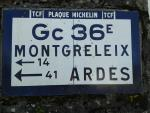 Old Michelin road signs