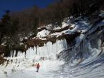 Muur van ijs bij Les Egravates