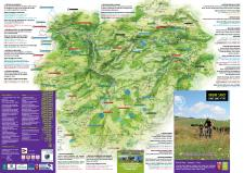 Uitgezette mountainbikeroutes Sancy massief