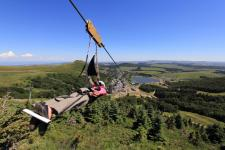 Mega zip line in Super-Besse