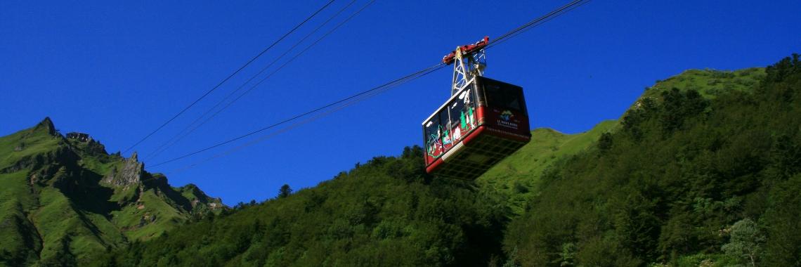 De kabelbaan van Le Mont-Dore